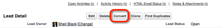 Convert A Lead Button
