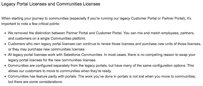 Legacy vs Community Portal Licenses