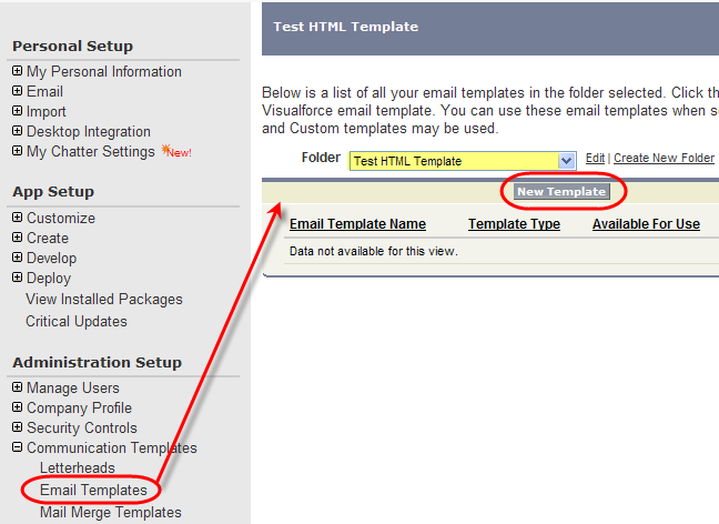 How to configure html emails in for Creating an html email template