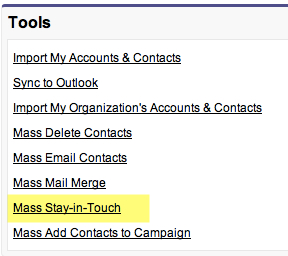 Mass Stay In Touch Update