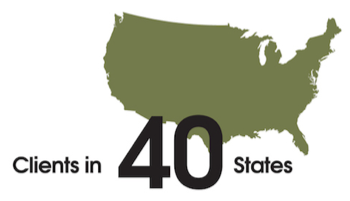 Clients in 40 States