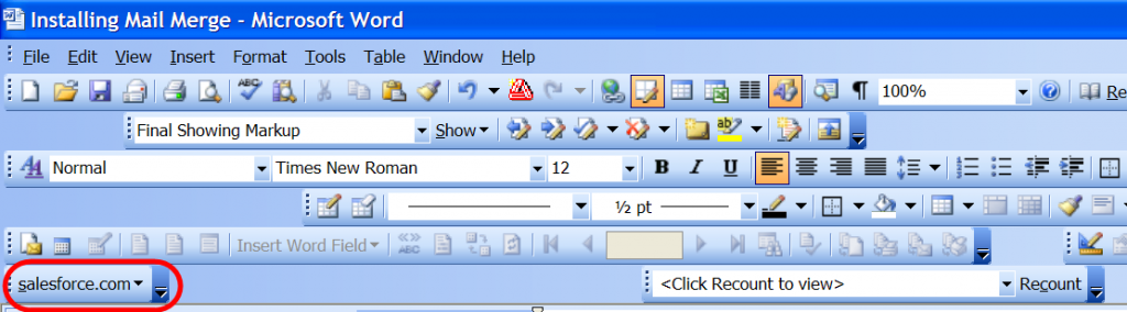 New toolbar option