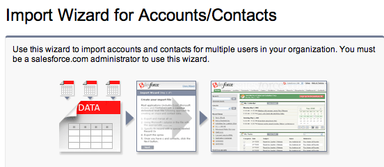 Import Wizard Accounts and Contacts
