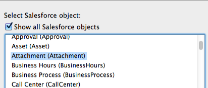 Show All Salesforce Objects