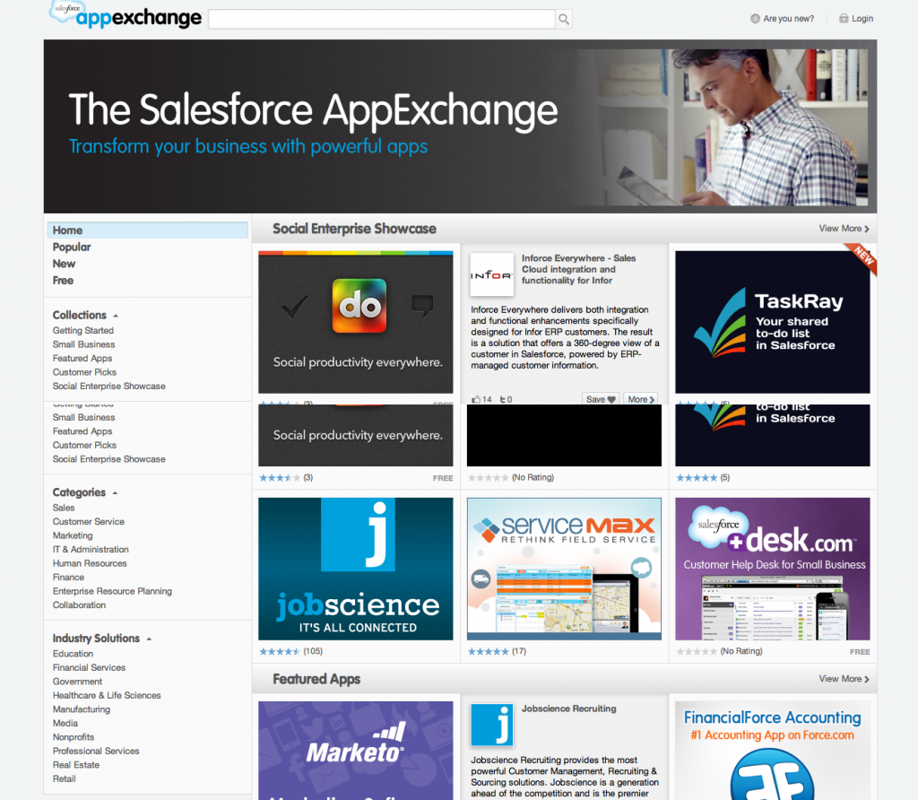 AppExchange New Home Page
