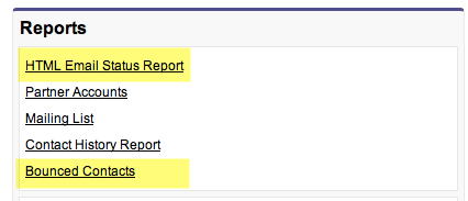 Contact Email Reports