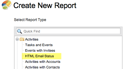 Where to find the HTML Email Status Report