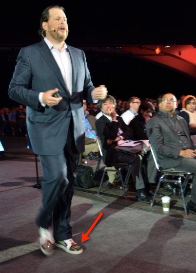 Benioff strutting his shoes