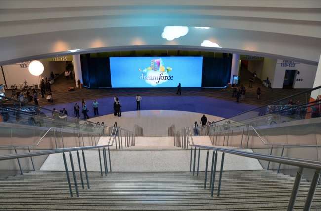 Entrance to Dreamforce Moscone