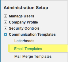 Get Started Navigate to Email Templates