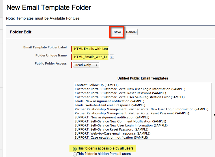 Create a salesforce html email template with merge fields for Creating an html email template