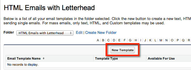 Create a salesforce html email template with merge fields for How to create email template using html