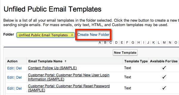 Unfiled Public Email Templates