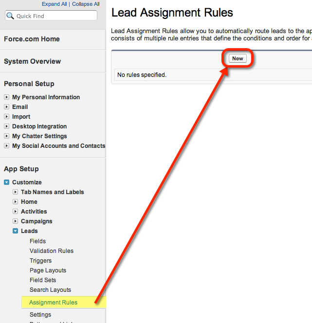 Create a Lead Assignment Rule