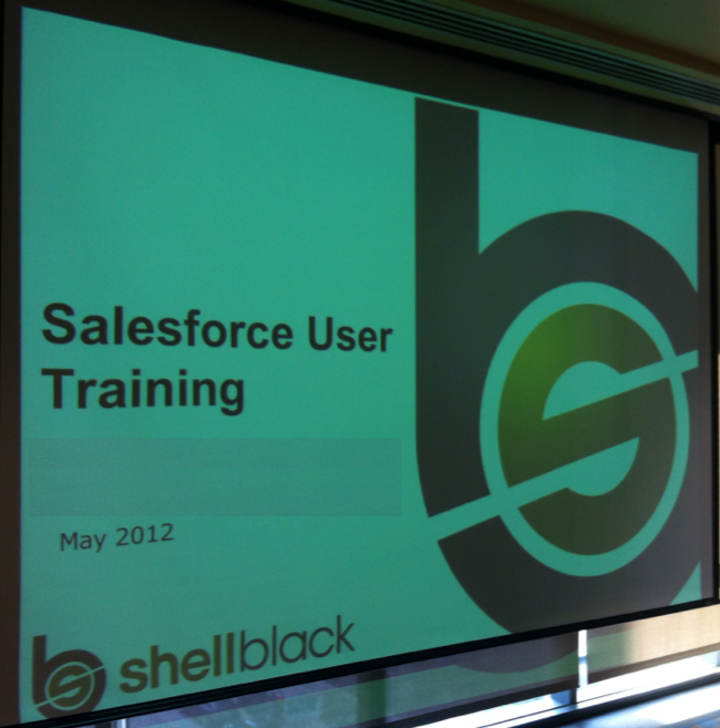 Salesforce End User Training ShellBlack