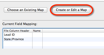 Create or Edit Map Button