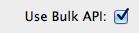 Use Bulk API
