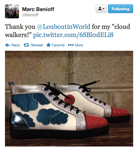 Marc Benioff Tweet Cloud Walkers
