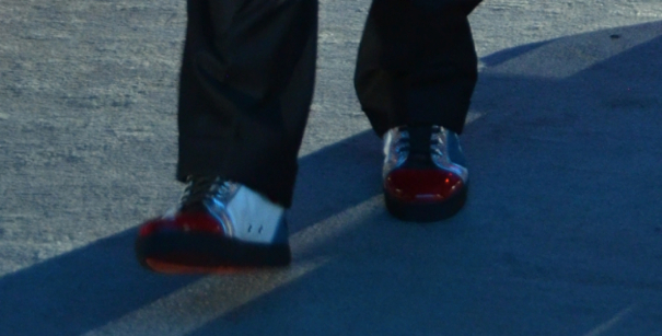 Ruby Red Benioff Shoes Front Close Up Dreamforce