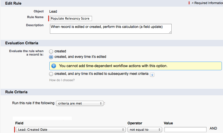 Workflow Step 2_Set the Criteria
