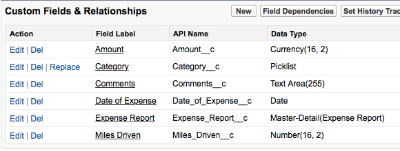 Fields Expense Report Entry
