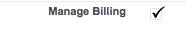 Manage Billing Permission Profile
