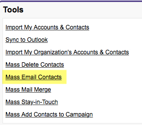 Mass Email Contacts