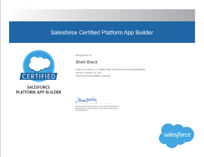 Certified Salesforce App Builder